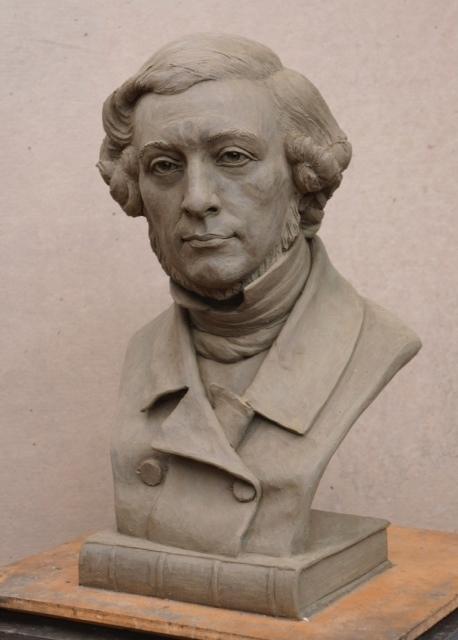 Alexis de Tocqueville, portrait bust