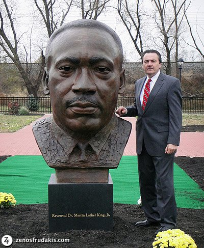 Reverend Martin Luther King, Chester, sculpture collection
