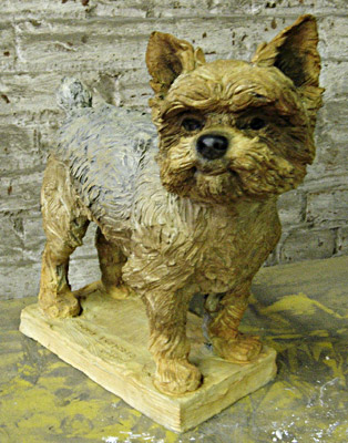 Terrier, animal sculpture