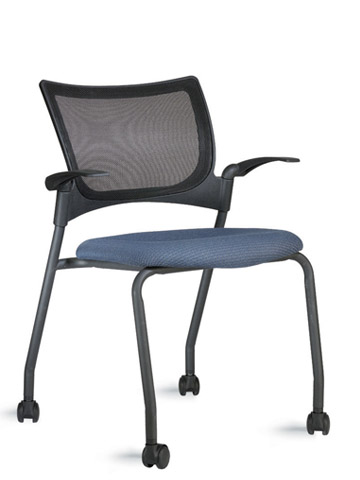 9to5 Bella Mesh Four Leg Guest Chair With Casters