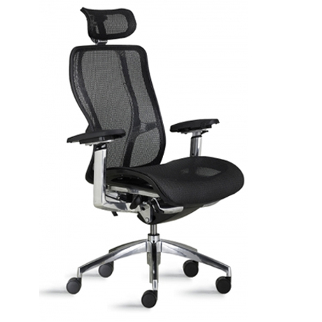9to5 vesta high back chair with mesh back and seat 180 office