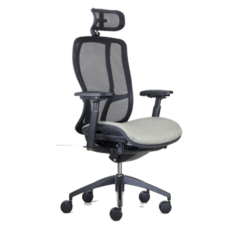9to5 Vesta High Back Chair With Mesh Back And Upholstered Seat