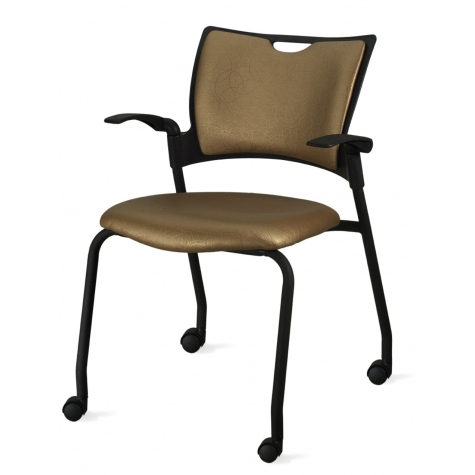 9to5 Bella Four Leg Guest Chair With Casters