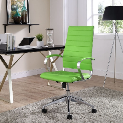 Jive High Back Office Chair in Bright Green