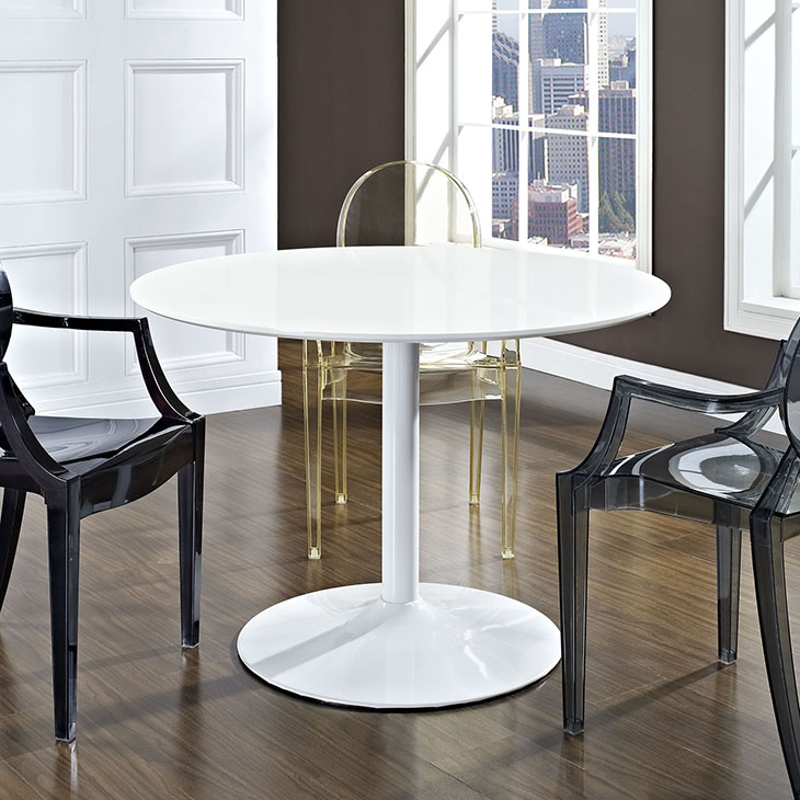Modway Revolve Round Wood Dining Table