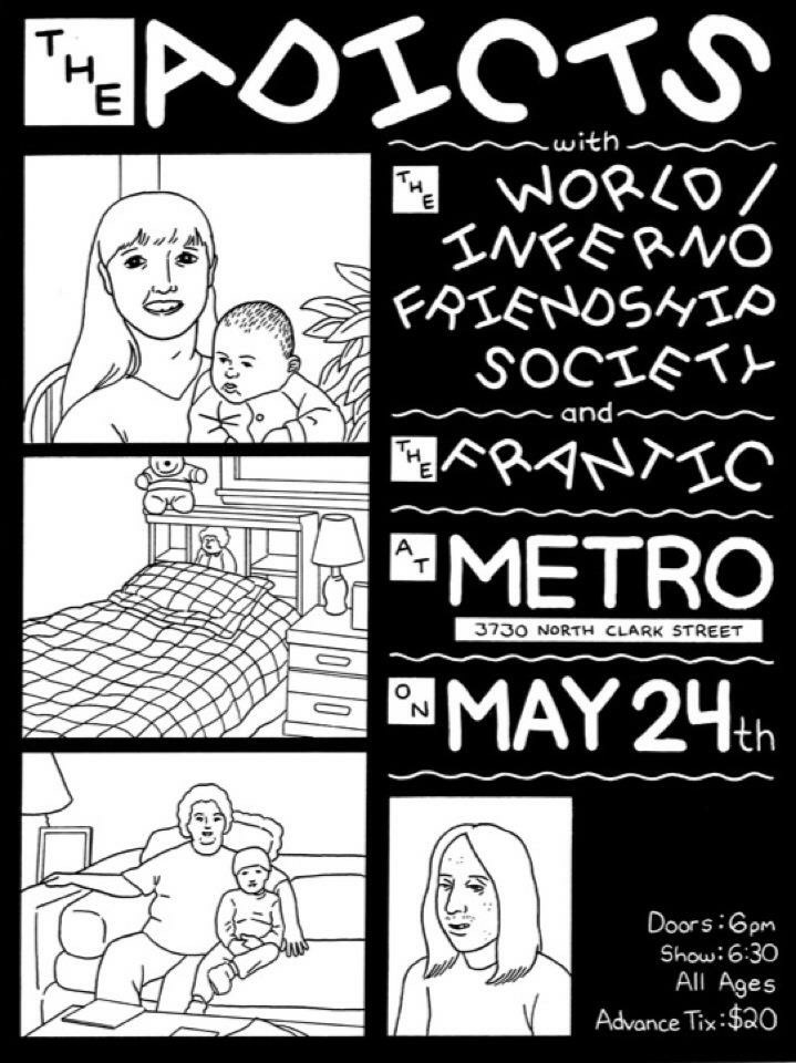 An old poster Nick drew up for The Metro