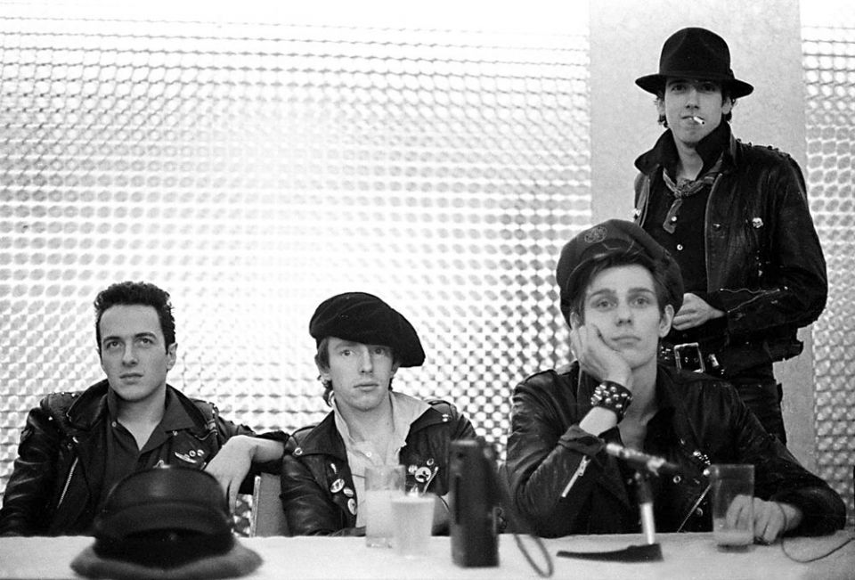 PHOTO: The Clash photographed by Chester Simpson at a press conference in San Francisco in 1979