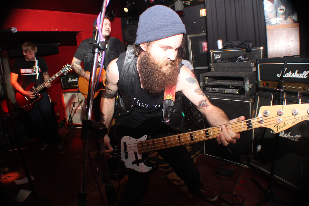 Chris spends his time playing with his band Criminal Kids, getting an education and whatever weird ass shit dudes with big ass beards do in their spare time.