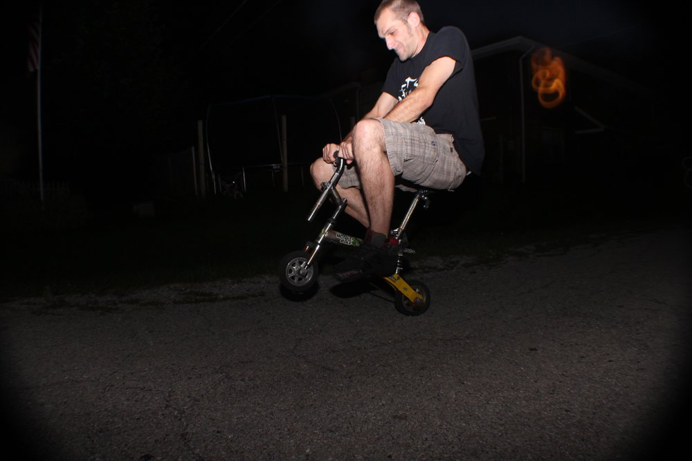 He's actually the only one I've seen pull off a wheelie on this thing.