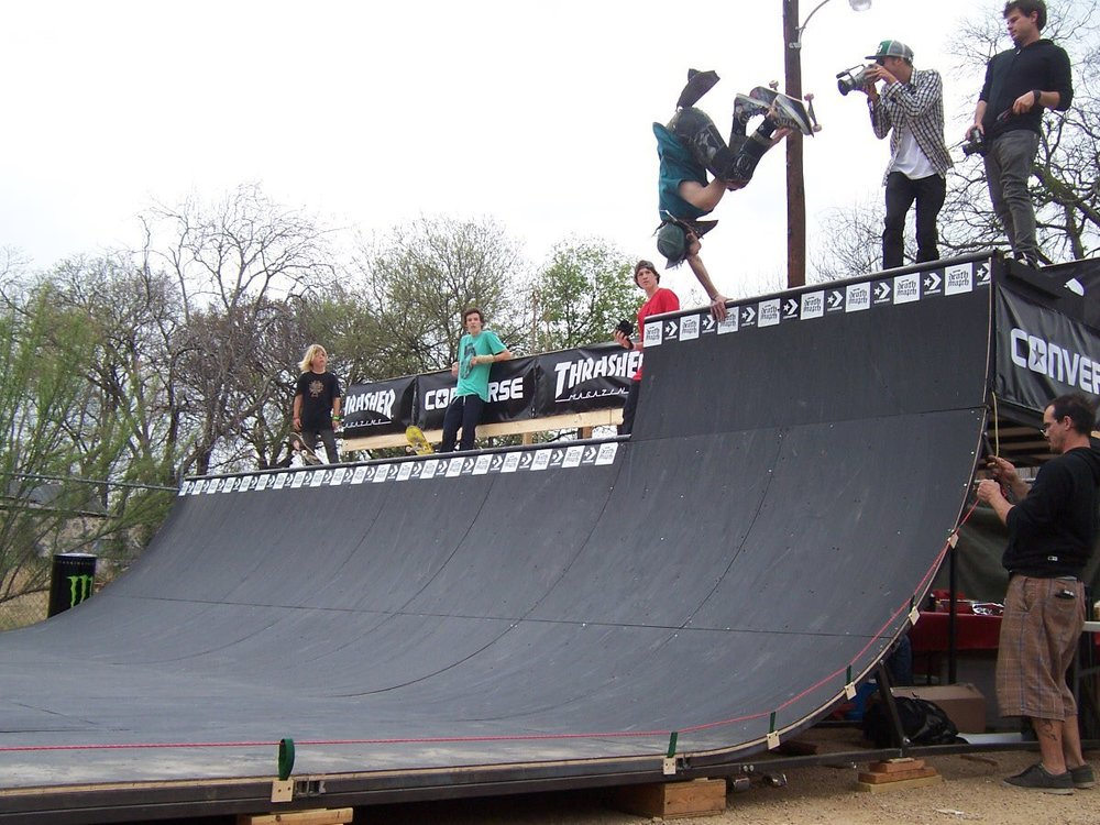 ? - Handplant during a Thrasher contest - Austin, TX