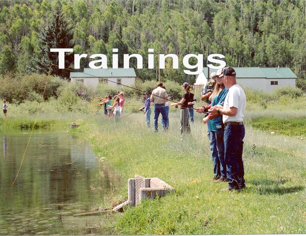 Cast & Blast, Participants learn how to flyfish, Division of Wildlife, Loyse Hinkle, Colorado Parks and Wildlife