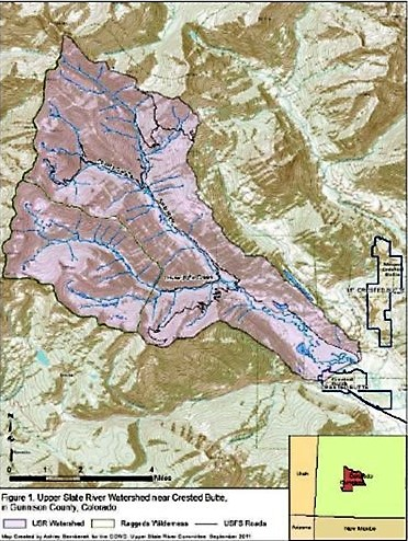Upper Slate River Watershed Map - Photo Credit Coal Creek Watershed Coalition and Upper Slate River Steering Committee