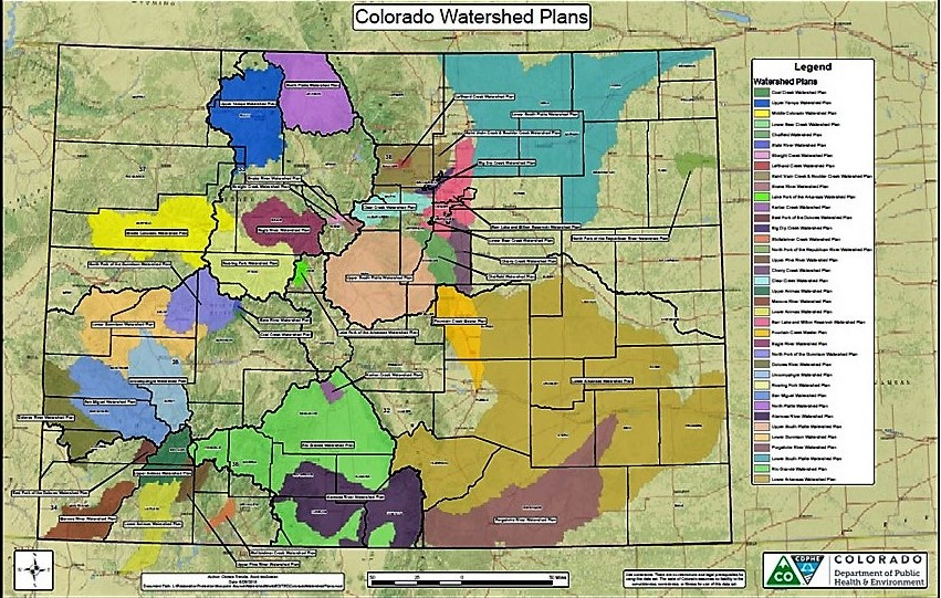 Colorado Watershed Plans Map - Click on map image to download map.