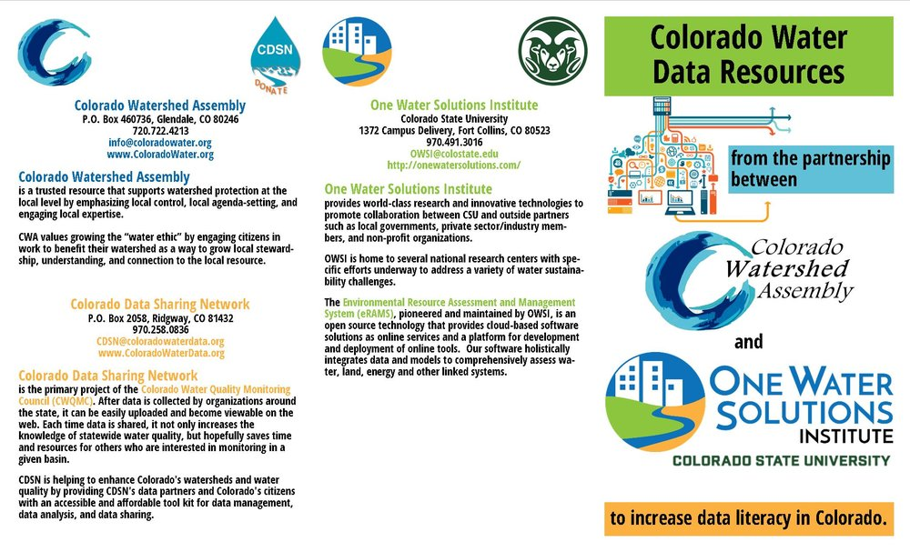 Colorado Water Data Resources Trifold