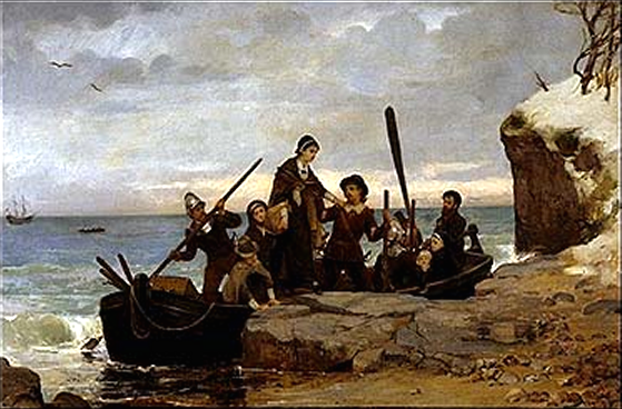 The Landing of the Pilgrims, by Henry A. Bacon (1877)