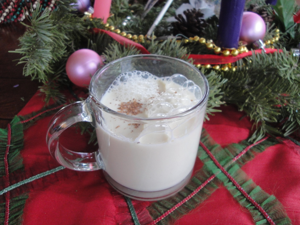 Homemade Eggnog, made in the Adventure Kitchen, December 2014