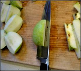 cutting apples 2