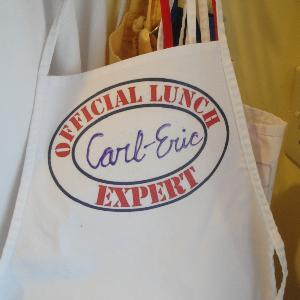 Personalized aprons for our Official Lunch Experts!