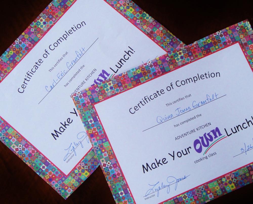Certificates!