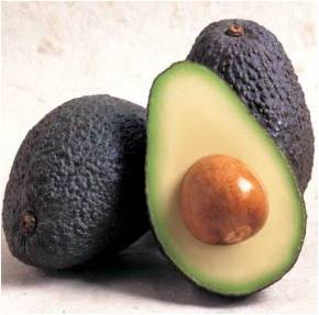 Ripe Hass avocados.  If you are not ready to use them right away, store whole, ripe avocados in the refrigerator.