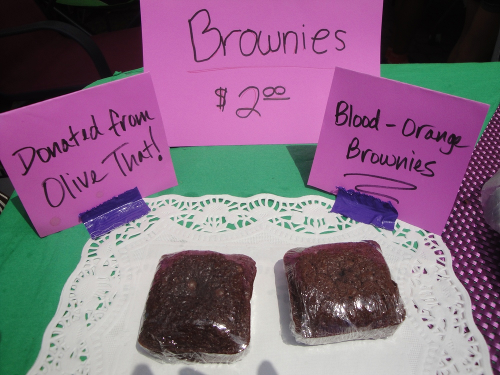 2015 - Blood-Orange Brownies donated by Olive That! And More on Bellevue Avenue in Upper Montclair.  Only 2 left!