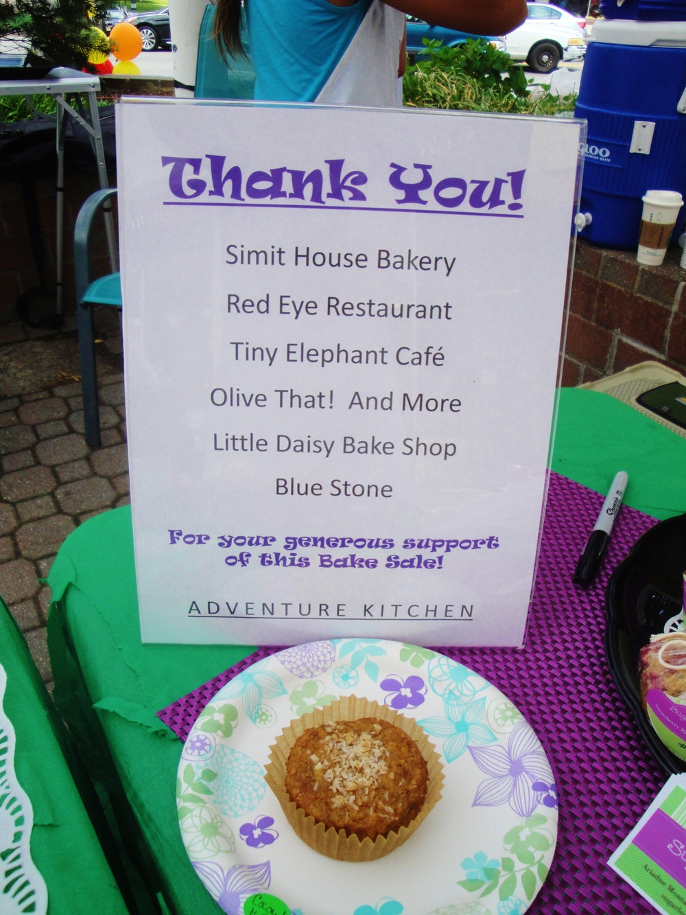 2015 - The local businesses and restaurants that provided treats for the Bake Sale.  Thank you!