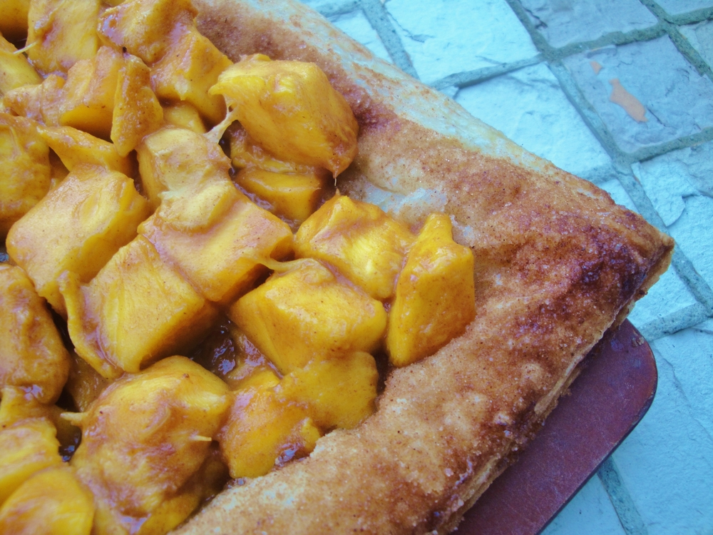 Mucho Mango Tart made in the Adventure Kitchen in June, 2015.