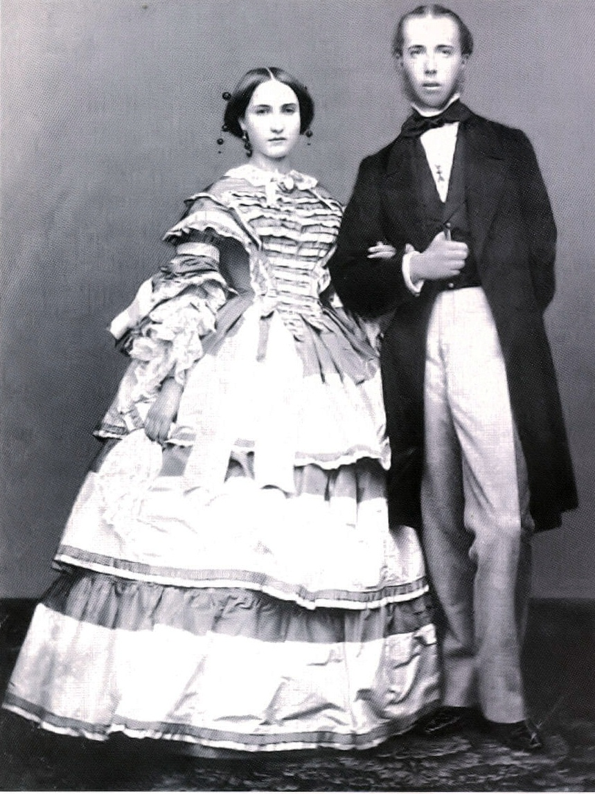 Carlotta and Maximilian on their wedding day
