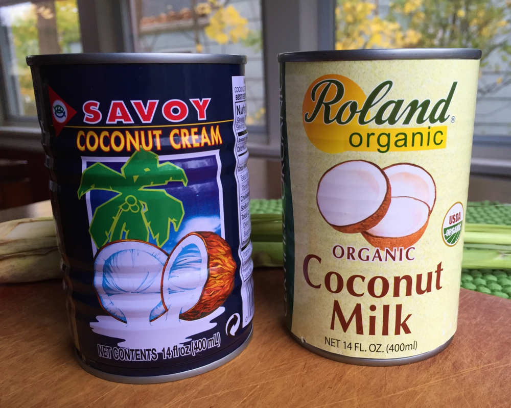 Two brands of coconut cream/milk we found at our local Asian market. We used the Savoy with fabulous results.
