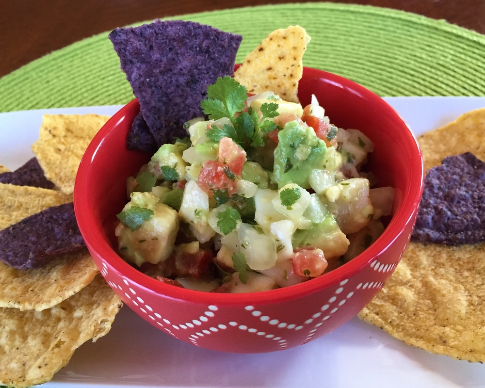 Spice-full and delicious Ceviche made in the Adventure Kitchen in November 2015.