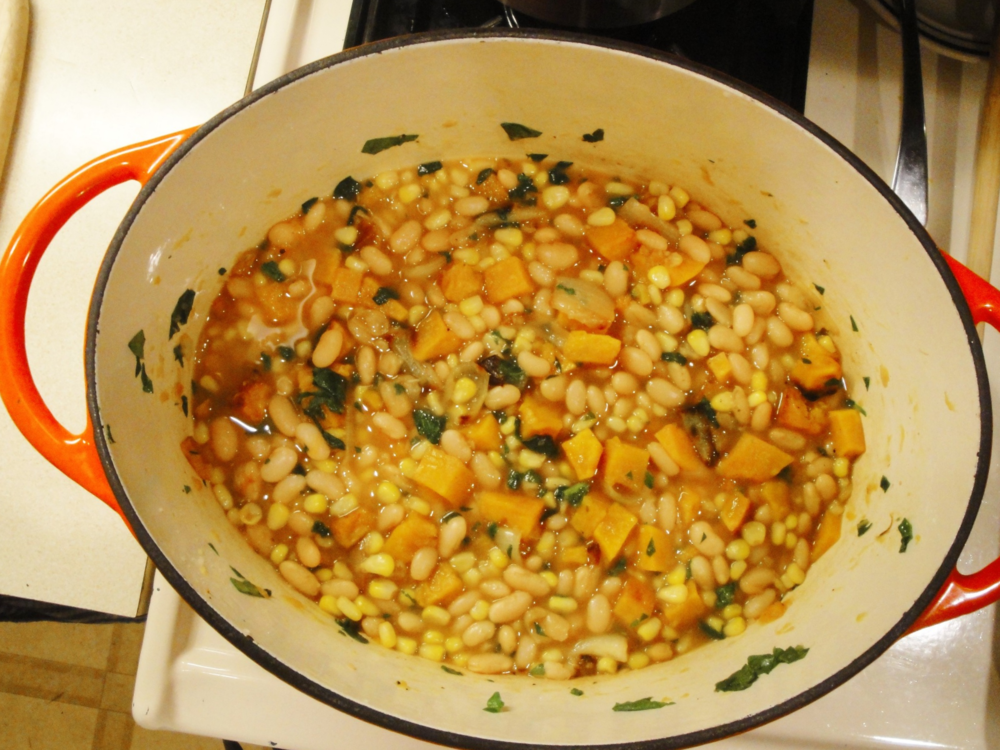 Three Sisters Soup made in the Adventure Kitchen in November, 2014.