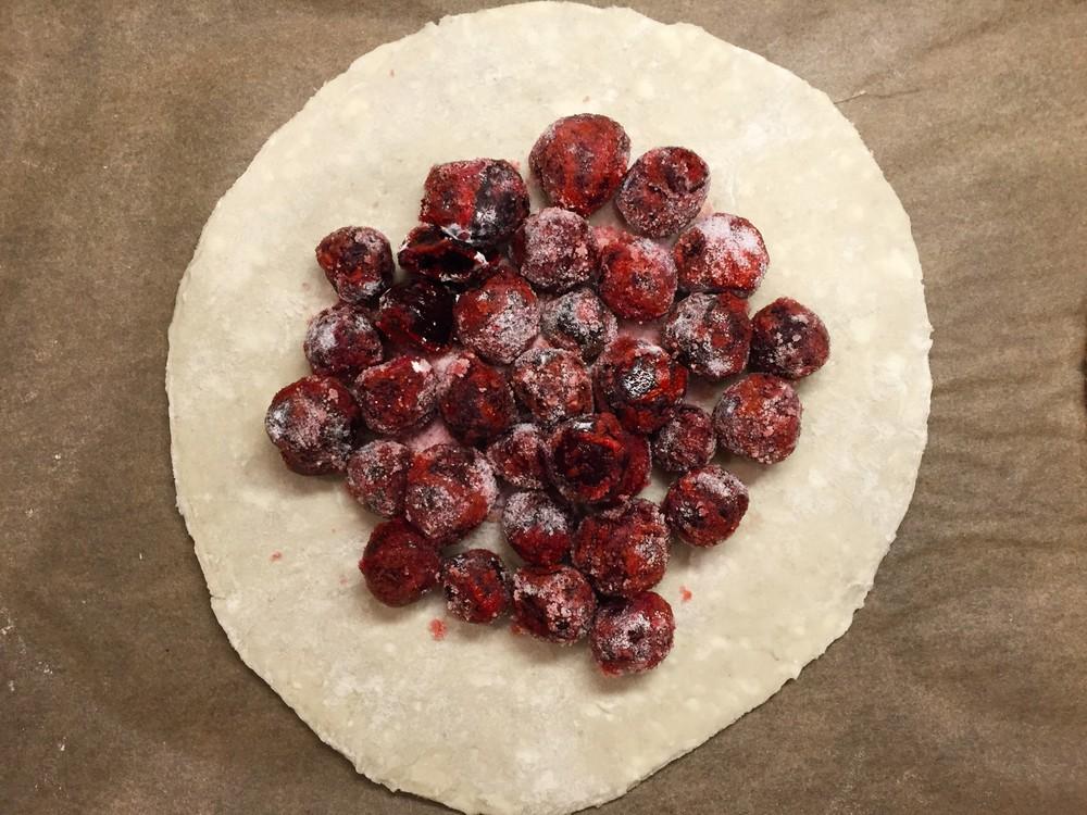 cherries in pastry