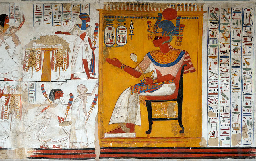 Wall paining from the tomb of Ramses II.