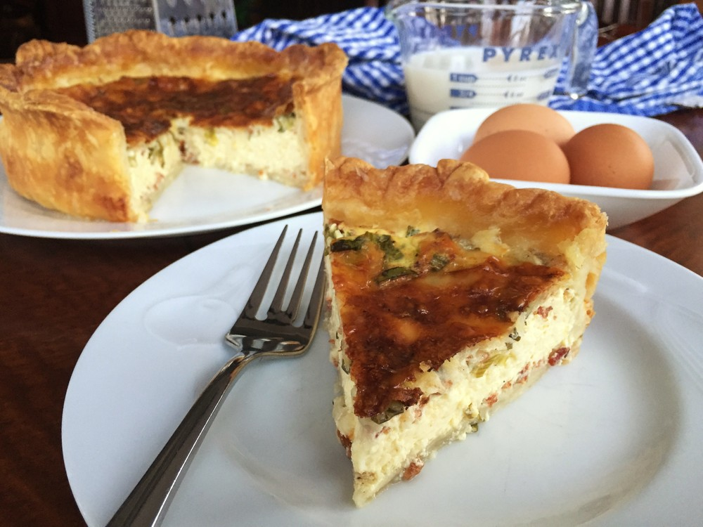Quiche, Lorraine-ish  made in the Adventure Kitchen in February 2016.