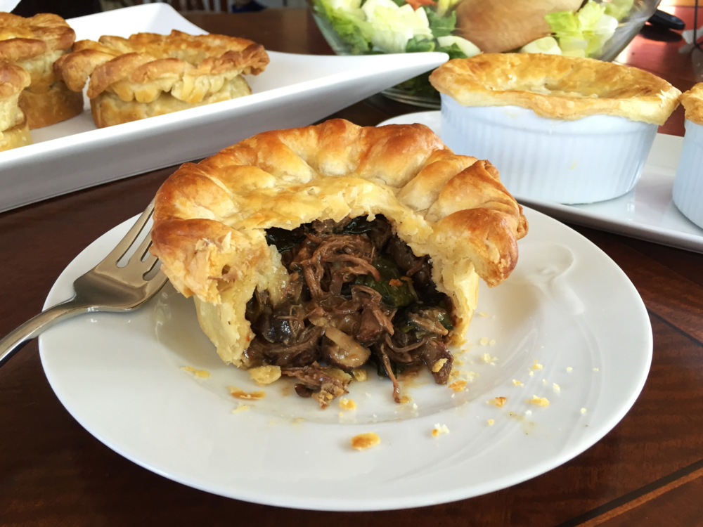 Beef and Mushroom Pot Pies made in the Adventure Kitchen.