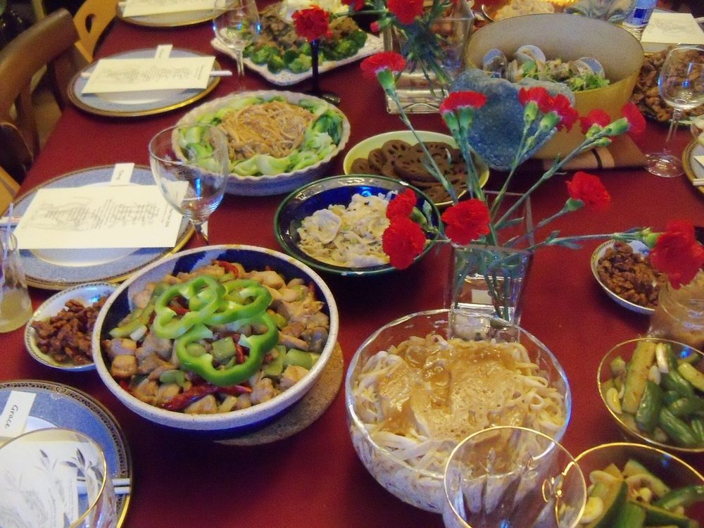 Amy's Chinese New Year table