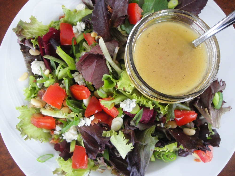 Salad with dijon vinaigrette