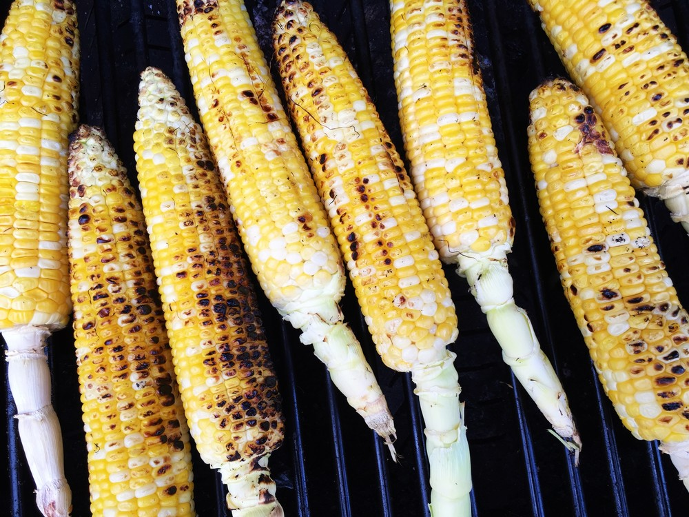 Corn on the grill.