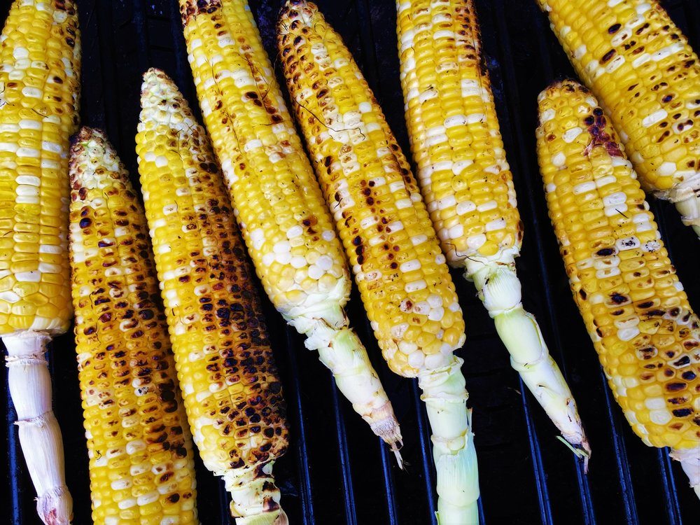 Corn on the Cob, on the grill in the Adventure Kitchen.
