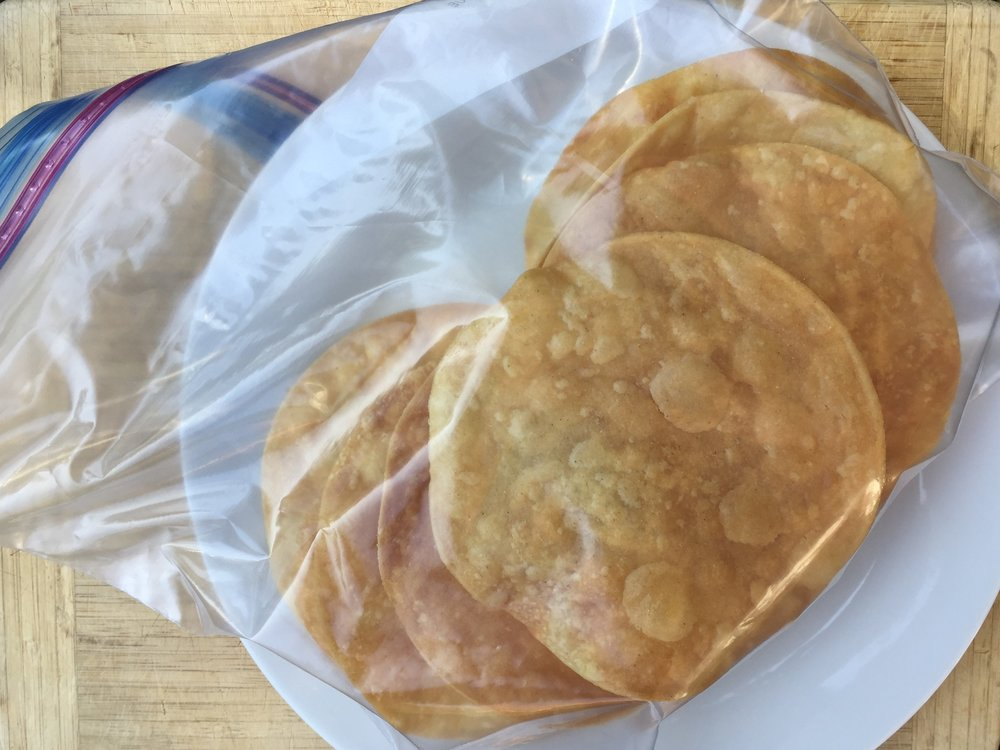 If you want to fry a large batch at once, you can keep extras in a zip-top bag for at least a week. I usually fry more than I need and keep the extras handy to whip up a quick snack or lunch later in the week.