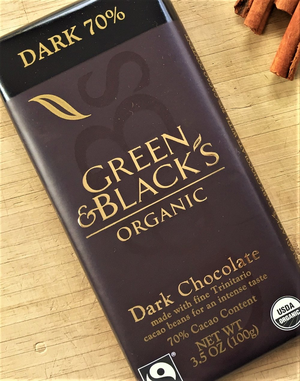 Green & Black's 70% cacao chocolate - this is the bar we used to make this recipe.
