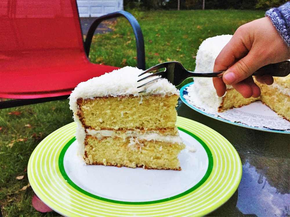 Uncle Monty's coconut cream cake