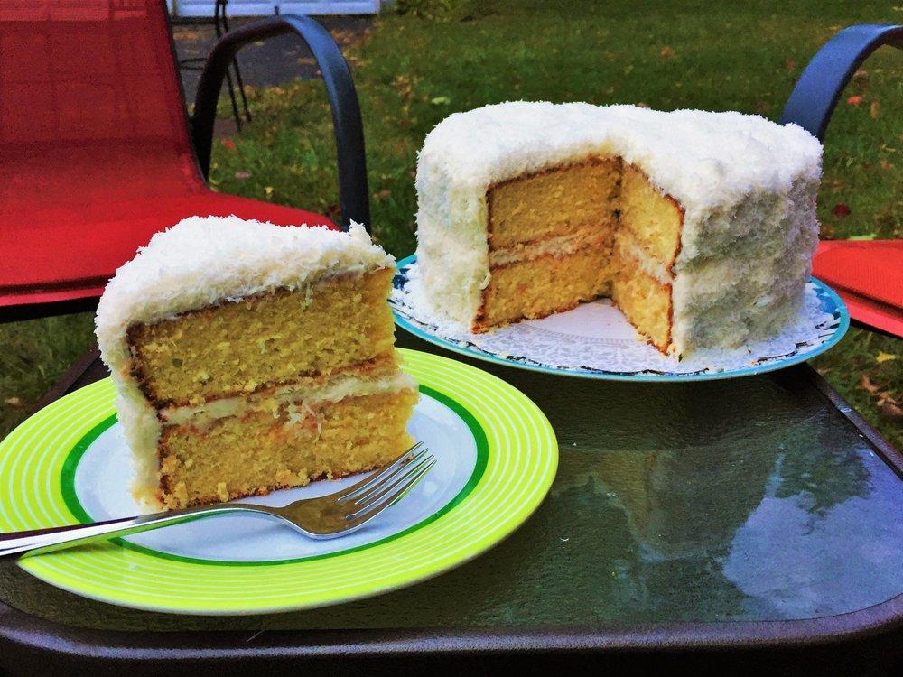 Uncle Monty's coconut cream cake