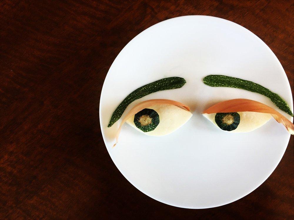 anxious clown food art