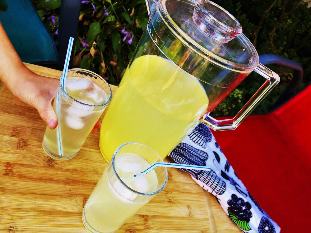 Extra Lemony Lemonade made in the Adventure Kitchen.