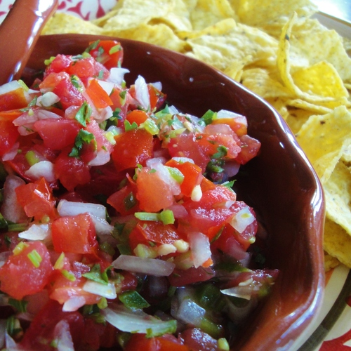 Pico de Gallo made in the Adventure Kitchen.