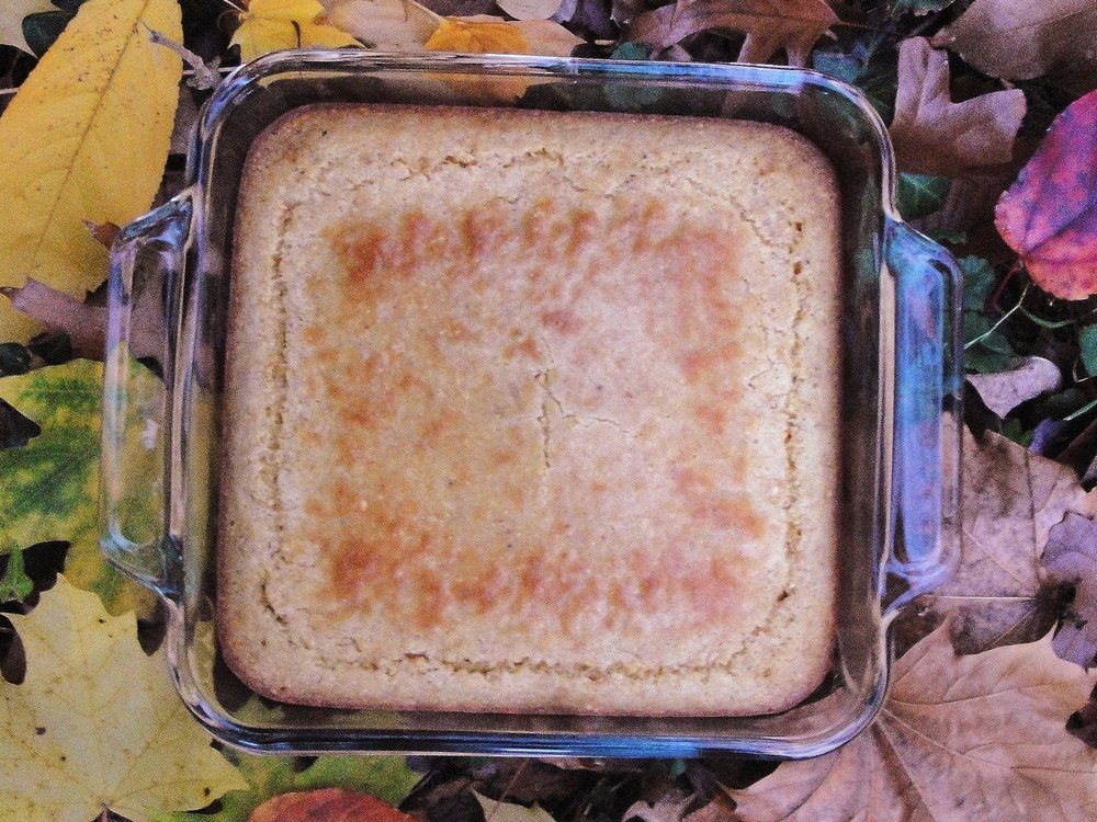 Classic Cornbread made in the Adventure Kitchen.