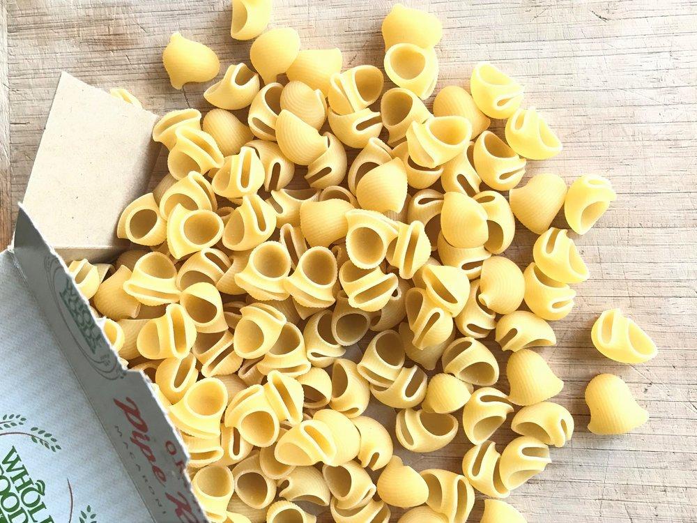 Pipe rigate pasta in the Adventure Kitchen.