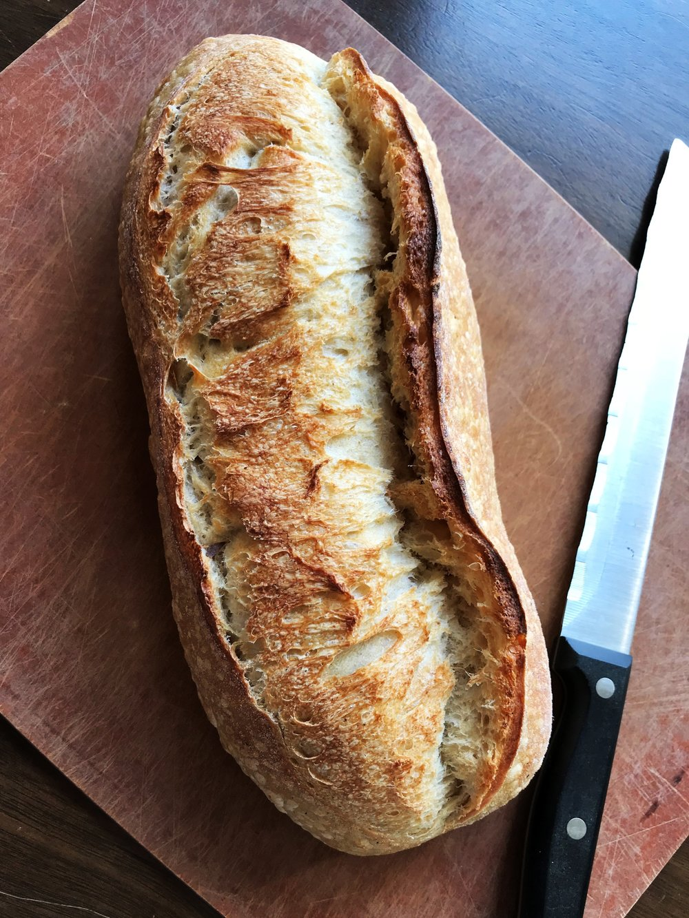 My loaf of sourdough from Montclair Bread Co. (Pretty, right?)