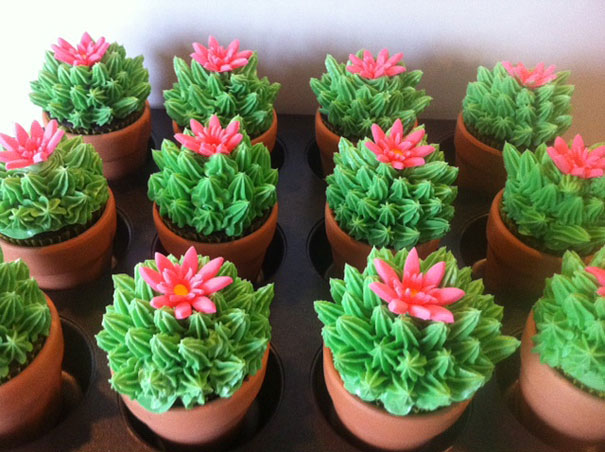 We'll decorate cupcakes with buttercream frosting to look like cactuses, just like these!
